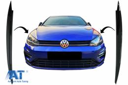 Pleoape Faruri compatibil cu VW Golf VII 7 5G (2013-2017) Negru Lucios