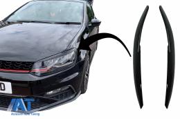 Pleoape Faruri compatibil cu VW Polo 6R 6C (2009-2017) Negru Lucios - HEVWPO6R