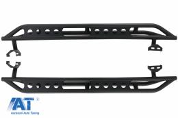 Praguri trepte laterale compatibil cu Jeep Wrangler JL (2018-Up) 4 Usi Otel - RBJEWJL4DARM