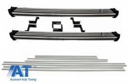 Praguri Trepte Laterale cu Bandouri Laterale Brushed Aluminum compatibil cu MERCEDES G-Class W463 (1989-2018) - CORBMBW463DMS