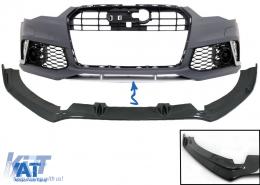 Prelungire Bara Fata compatibil cu AUDI A6 4G RS6 Design (2011-2018) Carbon - FBSAUA64GRSC
