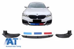 Prelungire Bara Fata compatibil cu BMW Seria 5 G30 G31 (2017+) M5 Design Negru Lucios - FBSBMG30M5
