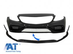 Prelungire Bara Fata compatibil cu Mercedes C-Class W205 S205 A205 C205 Limo Coupe Station Wagon Cabiolet (2014-up) Edition 1 Design Negru Mat