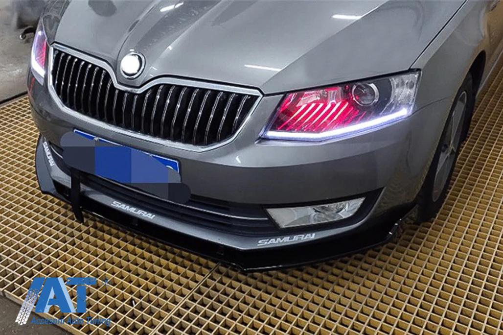 Prelungire Bara Fata Compatibil Cu Skoda Octavia Iii 5e Sedan Estate 2013 2016 Negru Lucios Accesoriiautotuning Ro