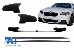 Prelungire Bara Fata cu Capace Oglinzi si Extensii Praguri Laterale compatibil cu BMW Seria 5 F10 F11 (2015-2017) M-Performance Design - COFBSBMF10MPBSS