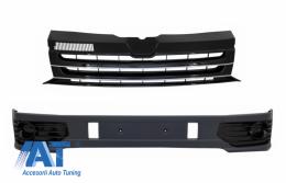 Prelungire Bara Fata cu Grila Centrala fara emblema compatibil cu VW Transporter Multivan Caravelle T5 T5.1 Facelift (2010-2015) Sportline - COFBSVWT5OEFG