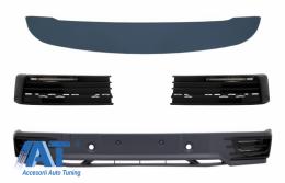 Prelungire Bara Fata Extensie Add-on cu Lumini de zi LED DRL si Eleron Luneta compatibil cu VW Transporter T6 (2016-up) - COFBVWT6DRLTS