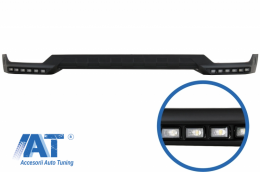 Prelungire Bara Fata LED DRL compatibil cu MERCEDES G-Class W463 AMG (1989-2017) Negru - FBSMBW463BK