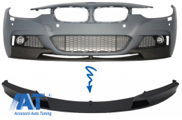 Prelungire Bara Fata Negru Lucios BMW Seria 3 F30 (2011+) M-Performance Design - FBSBMF30MPB
