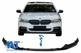 Prelungire Bara Fata Negru Lucios compatibil cu BMW Seria 5 G30 G31 (2017+) M Tech Sport H-Design - FBSBMG30MPB