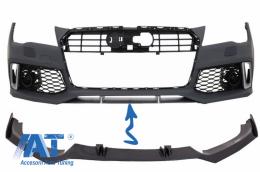 Prelungire Bara Fata Real Carbon compatibil cu AUDI A7 4G RS7 (2010-2018) - FBSAUA74GFRSC