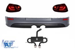 Prelungire Bara Spate cu Sistem de evacuare si Stopuri LED compatibil cu VW Golf 5 V (2003-2007) R32 Look - CORBVWG5R32ESTL