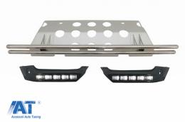 Prelungire Bara Spate Protectie Off Road Prelungiri Bara Fata DRL compatibil cu MERCEDES Benz W463 G-Class (1989-2017) 4X4 Design - COFBSMRBBW463AMG4X4