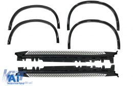 Prelungiri Aripi Extensii Aripi BMW X5 F15 2014+ M-Design + Praguri Trepte Laterale - COWABMF15MRB