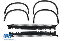 Prelungiri Aripi Extensii Aripi compatibil cu BMW X5 F15 2014+ M-Design + Praguri Trepte Laterale - COWABMF15MRB