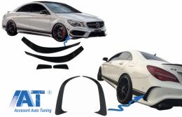 Prelungiri Bara Fata Extensii Bara Spate Mercedes Benz CLA W117 C117 X117 (2013-2016) CLA45 AMG Design
