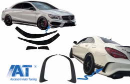 Prelungiri Bara Fata Extensii Bara Spate Mercedes Benz CLA W117 C117 X117 (2013-2016) CLA45 AMG Design - COFBSPMBW117AMGRB