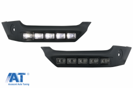 Prelungiri Bara Fata LED DRL compatibil cu Mercedes G-Class W463 (1989-up) - FBSMBW463BSK