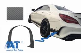 Prelungiri Extensii Bara Spate compatibil cu MERCEDES CLA W117 C117 X117 (2013-2018) CLA45 Design Carbon Film Coating - RBSPMBW117AMGCF