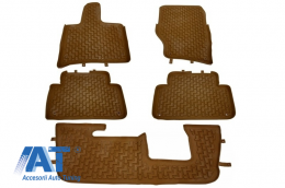 Presuri Interior Covorase interior compatibil cu AUDI Q7 4L (2006-2015) Maro