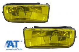 Proiectoare faruri ceata compatibil cu BMW Seria 3 E36 1991-1999 galben - NLB01DY