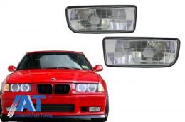 Proiectoare faruri ceata compatibil cu BMW Seria 3 E36 1991-2000 Crom - NLB01DC