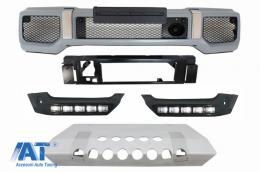 Protectie Bara A-Design 4x4 Look Prelungiri Bara Fata LED DRL compatibil cu MERCEDES W463 G-Class (1989-2017) - COCBMBW463AMG4X4BSK