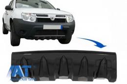 Protectie Bara Fata compatibil cu Dacia Duster 4x4 / 4x2 (2010-2017) Negru Lucios - SPFBDDPB