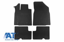 Set 4 covorase auto din cauciuc PETEX, negru, compatibil cu  Dacia Locan MCV 07/2013 - - 29013