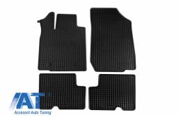 Set 4 covorase auto din cauciuc PETEX, negru, compatibil cu Dacia Duster 4x2  03/2010-12/2013, Duster 01/2014-12/2017, Duster 01/2018- - 28910
