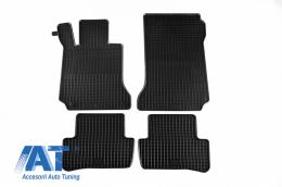 Set 4 covorase auto din cauciuc PETEX, negru, compatibil cu  compatibil cu MERCEDES C-Klasse (W204) 03/2007-02/2014, E-Klasse Coupe/Cabrio 05/2009-03/2017 (C207), T-Modell (S204) 11/2007-08/2014- - 46110