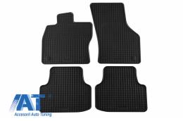 Set 4 covorase auto din cauciuc PETEX, negru, compatibil cu compatibil cu SKODA Octavia III Limousine 02/2013m Kombi 05/2013, Octavia Scout 10/2014- - 22210