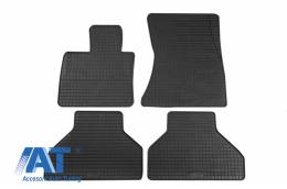 Set 4 covorase auto din cauciuc PETEX, negru, compatibil cu BMW X5 (E70) 03/2007-10/2013, X6 (E71) 06/2008-11/2014, X5 (F15) 11/2013, X6 (F16) 12/2014- - 16910