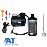 Set reparatie pana cu compresor 12V, 18 bar, set adaptor si solutie antipana- - 445100