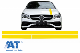 Set Stickere Galben Mat Mercedes Benz CLA W117 C117 X117 (2013-2016) A Class W176 (2012-2018) 45 AMG Design Edition 1 - STICKERMBHYE