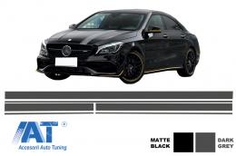 Set Stickere Gri Inchis compatibil cu MERCEDES Benz CLA W117 C117 X117 (2013-2016) A Class W176 (2012+) A45 A-Design - STICKERMBHDG