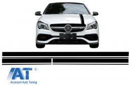 Set Stickere Negru Mat Mercedes Benz CLA W117 C117 X117 (2013-2016) A Class W176 (2012-2018) 45 AMG Design Edition 1 - STICKERMBHMB
