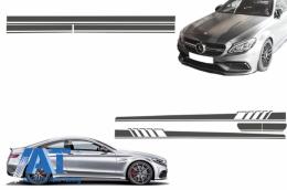 Set Stickere pentru Capota/Plafon/Portbagaj si Laterale Gri Inchis Mercedes Benz Coupe C205 A205 Cabriolet 2014+ 45 AMG Design Edition 1 - COSTICKERC205DG