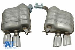 Sistem de evacuare cu Tips-uri Duble compatibil cu Audi Q5 8R (11.2008-2016) Crom - ESAUQ58R