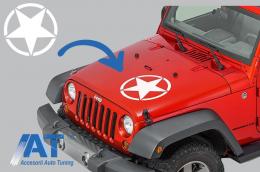 Sticker Stea ALB Universal pentru Jeep, SUV, Camioane sau alte Autoturisme - STICKERSTARW