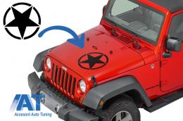 Sticker Stea Negru Universal pentru Jeep, SUV, Camioane sau alte Autoturisme - STICKERSTARB