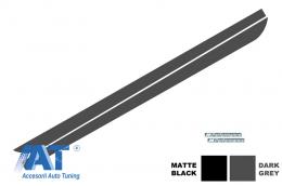 Stickere Laterale BMW Seria 5 F10 F11 (2011-up) M-Performance Design Gri Inchis - STICKERF10DG