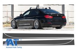 Stickere Laterale Gri Inchis BMW Seria 3 F30 F31 (2011-up) M-Performance Design - STICKERF30DG