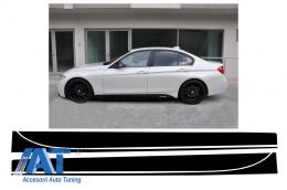 Stickere Laterale Negru Mat BMW Seria 3 F30 F31 (2011-up) M-Performance Design Negru Mat - STICKERF30MB