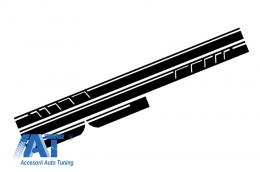 Stickere Laterale Negru Mat compatibil cu MERCEDES Benz CLA W117 C117 X117 (2013-2016) A Class W176 (2012+) 45 A-Design Edition 1 - STICKERW117MB