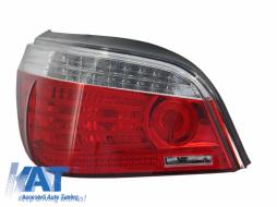 Stop Stanga compatibil cu BMW Seria 5 E60 (2007-2010) LCI Rosu Clar OE 63217177282 - 1224191