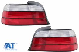 Stopuri compatibil cu BMW Seria 3 E36 Coupe Cabrio (1992 -1998) Rosu/Alb - RB10E