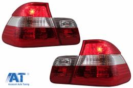 Stopuri compatibil cu BMW Seria 3 E46 Sedan (05.1998-08.2001) Rosu & Alb - TLBME46NFL