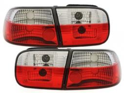 Stopuri compatibil cu HONDA Civic 3 usi (1992-1995) Rosu/Cristal - RH01RC