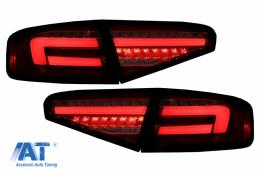 Stopuri Full LED compatibil cu AUDI A4 B8 (2012-2015) Sedan Rosu Semnal Dinamic OEM LED - TLAUA4B8F